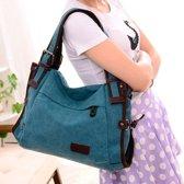 Vrijetijds mode Nylon waterdichte schuine schouder Bag(Blue)