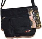 Dames schoudertasje zwart NewYork