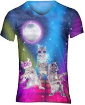 Discokittens festival shirt - V-hals, L