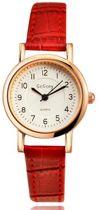 Elegante Quartz Horloge rood
