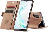 CASEME Wallet Hoesje voor Samsung Galaxy Note 10 Plus - Bruin