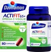 Davitamon Actifit 65+ Omega-3 Visolie - 80 stuks - Voedingssupplement