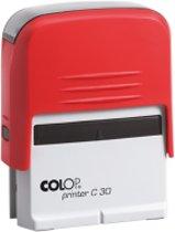 Colop Compact printer C20 - incl. voucher/waardebon voor de tekst met rood inktkussen