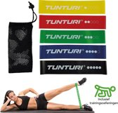 Tunturi 5 Weerstandsbanden Set - Fitness elastiek - Fitnessband - Trainingsband - Gymnastiekband - resistance band - exercise bands - High quality latex + E Book