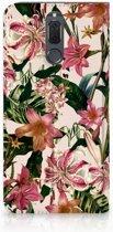 Book Case Huawei Mate 10 Lite Hoesje Flowers