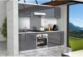 START Keukenbasis L 60 cm inclusief werkblad - glanzend grijs