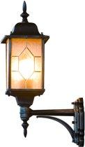 Konstsmide Milano - Wandlamp opwaarts 53cm - 230V - E27 - zwart/zilver