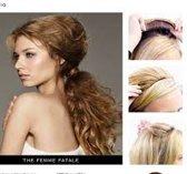 Balmain Half Wig 45 cm. Memory®hair, kleur AMSTERDAM, een mooie mix van blonde tinten.