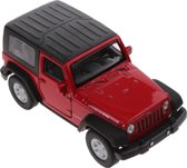 Welly Schaalmodel Jeep Wrangler Rubicon 1:34 Rood 11 Cm