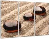 Glasschilderij Zand | Bruin | 120x80cm 3Luik | Foto print op Glas |  F004943