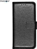 Shieldzone - Samsung Galaxy J4+ (PLUS) portemonnee hoesje - Zwart