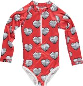 Beach & Bandits - UV-badpak voor meisjes - What the Shell? - rood