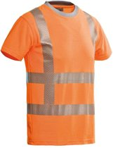 Santino t-shirt Vegas - fluor orange - 200171 - maat M