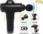 This is Goods® Massage Gun 4 opzetstukken - Zwart - Extra stil - Lange batterijduur