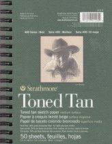Strathmore tekenblok toned tan 14x21cm