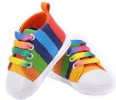 Regenboog babyschoenen 0-6 maanden