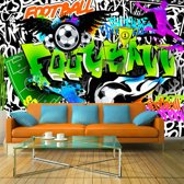 Fotobehang - Football Graffiti, voetbal