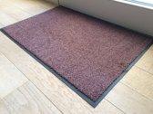 Ecologische droogloopmat roestbruin - 88 x 148 cm