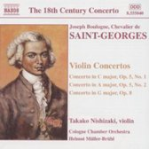 Saint-Georges: Violin Concertos / Nishizaki, Muller-Bruhl, Cologne CO