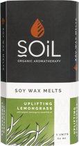 Soil - Wax Melts - Citroengras - 8 Wax Tabletten - Laat Je Huis Heerlijk Ruiken Met De Kerst - Gratis Aroma Brander