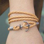 Bruine heren armband