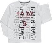 Losan Jongens Shirt Wit met prints - g22 - Maat 128