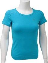 Adidas Ess Tee O59845, Vrouwen, Blauw, T-shirt maat: 38 EU
