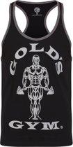 GGVST004 Muscle Joe Contrast Vest - Black/Grey Marl - L