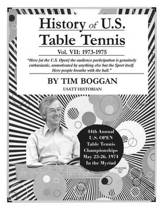 History of U.S. Table Tennis Volume 7