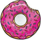 Aardbeien Donut Strandlaken - Beach Blanket Frosted Donut - Big Mouth badlaken -  ø 1,5 meter