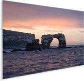 Galapagoseilanden bij Ecuador met zonsondergang Plexiglas 160x120 cm - Foto print op Glas (Plexiglas wanddecoratie) XXL / Groot formaat!