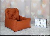 Autostoel voor honden Cosy Car Deluxe Angel & Gladys orange 55x45x25/50cm