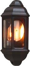 Konstsmide - Cagliari wandlamp flush 36cm 230V E27 - matzwart
