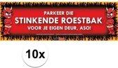 10x Sticky Devil Parkeer die stinkende roestbak grappige teksen stickers