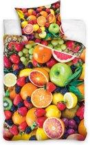 Carbotex Dekbedovertrek Kleurrijk Fruit 160 X 200 Cm
