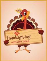 Kids Thanksgiving Activity Book