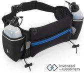Professionele drinkgordel inclusief 2 drinkflessen - runningbelt - met reflectiestrip