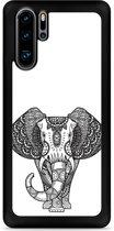 Huawei P30 Pro Hardcase hoesje Elephant Mandala Black