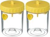 2x Wespenvangers/wespenvallen geel 14 cm - Insectenvangers/insectenvallen - Insectenbestrijding