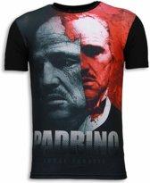 Local Fanatic El Padrino - Digital Rhinestone T-shirt - Zwart - Maten: L