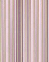 Strepen behang hoogwaardig vinylbehang EDEM 825-25 licht ivoorkleurig paars groen-beige grijs | 70 cm