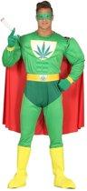 Marihuana man superheld verkleed kostuum voor heren M (48-50)