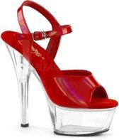 KISS-209BHG (EU 38 = US 8) 6 Heel, 1 3/4 PF Ankle Strap Sandal w/ Brushed Holo