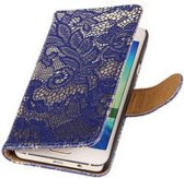 Lace Blauw Samsung Galaxy S4 Book/Wallet Case/Cover Hoesje