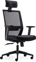 BenS 851H-Eco-2 Complete bureaustoel met hoofdsteun - ergonomisch gevormd - Zwart