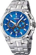Festina F20327/2 horloge heren - zilver - edelstaal