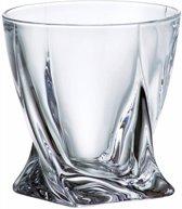 Quadro whisky glazen - kristal - 6 stuks
