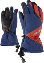 Ziener Agil AS Skihandschoenen Junior Wintersporthandschoenen - Unisex - blauw/oranje