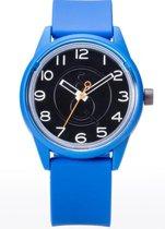 Q&Q Smile Solar 651004 horloge 50 meter 40 mm blauw/ zwart