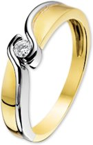 The Jewelry Collection Ring Zirkonia - Goud